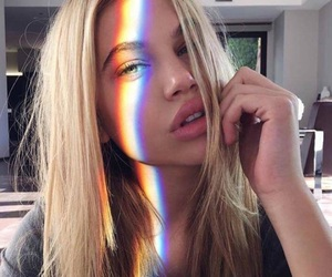 blonde and rainbow image