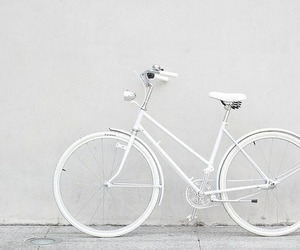 bicycle, photo, and white image