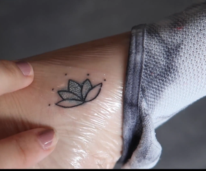 flower, tattoo, and flowers image