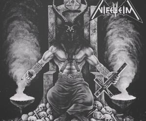 666, satan, and blackmetal image