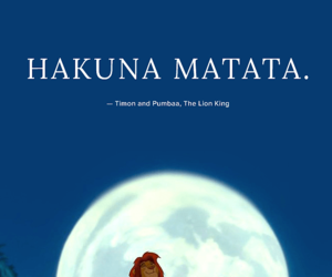 disney, the lion king, and hakuna matata image