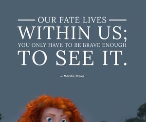 brave, disney, and merida image