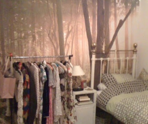 closet, forest, and girl room image