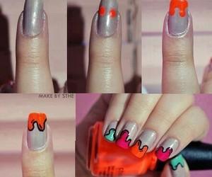 nails, tutorial, and nail art image