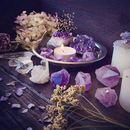 crystal, witch, and candle image