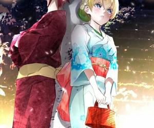 anime couple and sousei no onmyouji image
