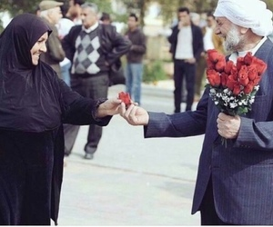 love, flowers, and muslim image