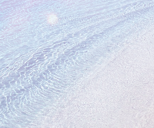 water, beach, and pastel image