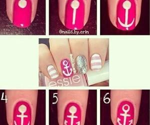 nails, diy, and pink image