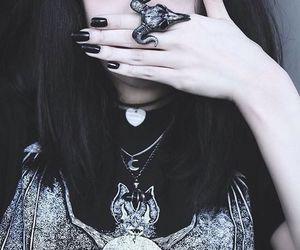 black, girl, and dark image