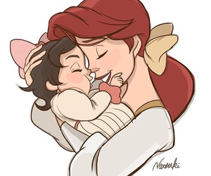 ariel, baby, and daughter image