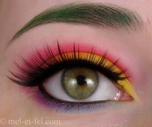 make up, multicolor, and rainbow image