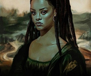rihanna, art, and mona lisa image