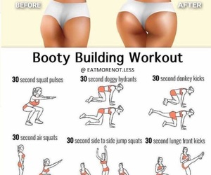 beauty, exercise, and booty image