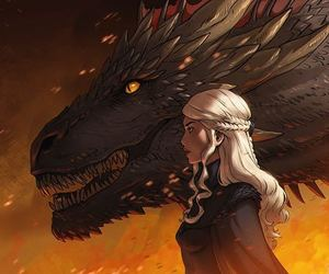 game of thrones, dragon, and drogon image