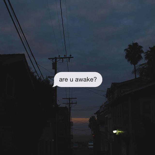 night, awake, and text image