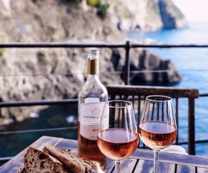 wine, summer, and bread image