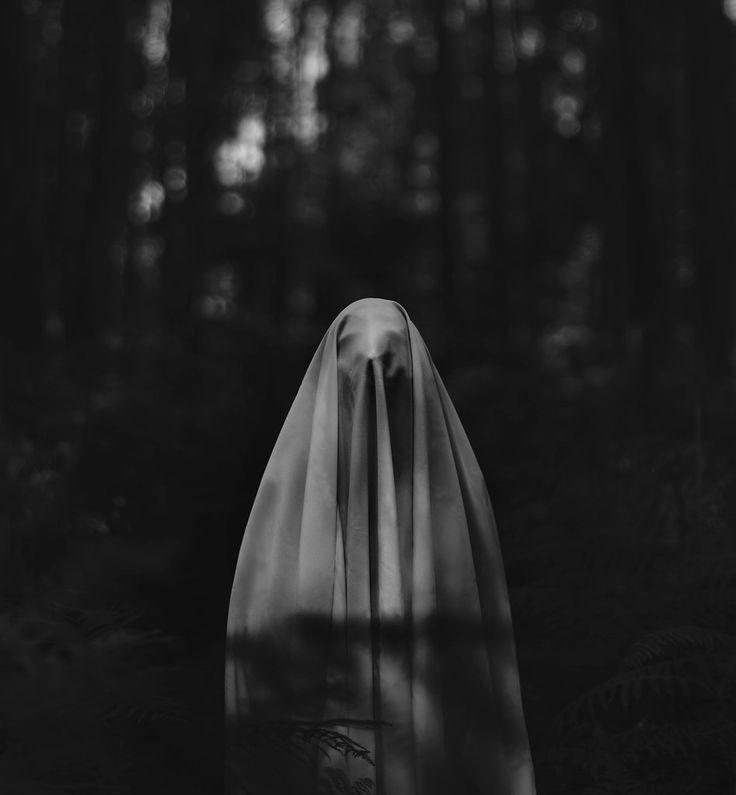 creepy, black and white, and dark image