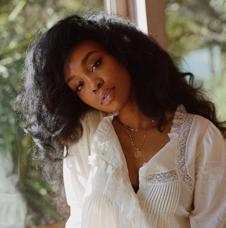 sza, beauty, and makeup image