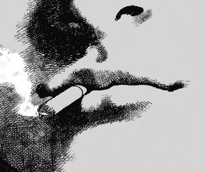 cigarette and lips image