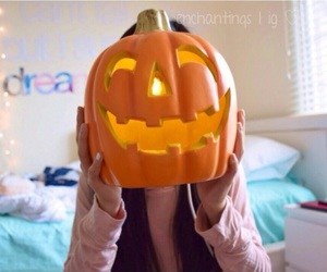 fall, Halloween, and pumkin image