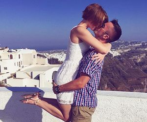 couple, Greece, and santorini image