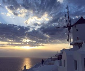 clouds, Greece, and santorini image