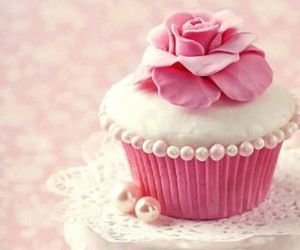 aesthetic, cupcake, and flower image