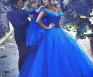 blue, family, and dress image