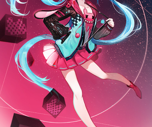 hatsune miku, vocaloid, and anime image