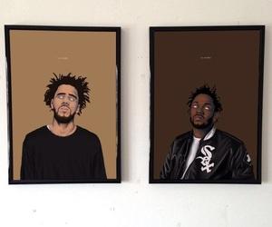 art, j cole, and kendrick lamar image