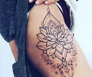 art, flowers, and ink image