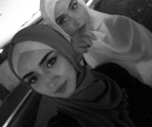 hijab, islam, and friends image