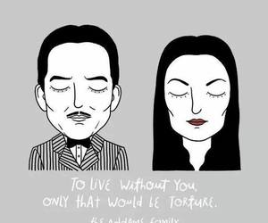 quote, the addams family, and love image