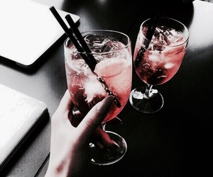 black, drink, and red image