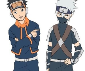 naruto, kakashi, and tobi image