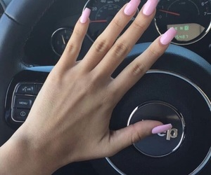 nails, pink, and jeep image