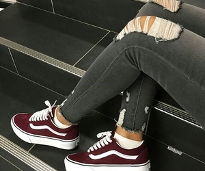 burgundy, grey, and jeans image