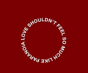 aesthetic, quote, and red image