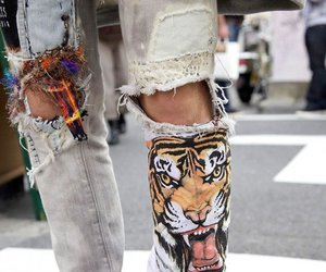 jeans, tiger, and swag image