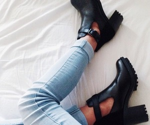 fashion, tumblr, and heels image
