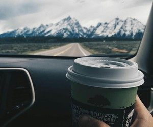 coffee, mountains, and travel image