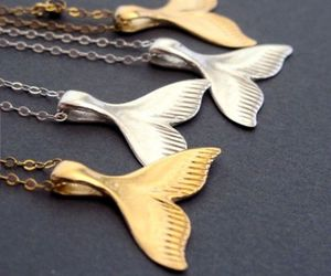 gold, mermaid, and necklaces image