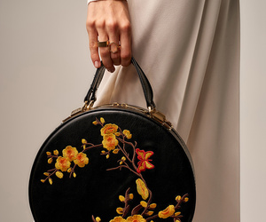 bag, floral, and fashion image