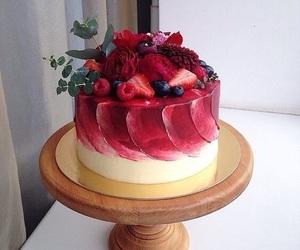 cake, fruit, and food image