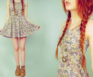 clothes, fashion, and floral dress image