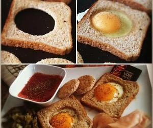 bread, cooking, and egg image