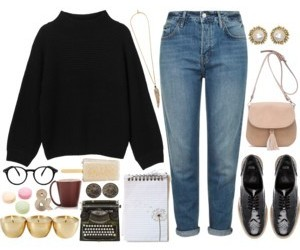 fashion, Polyvore, and school image