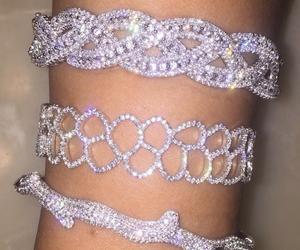 luxury, diamond, and bracelet image