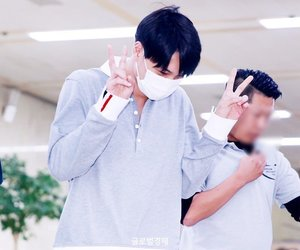 airport, black hair, and handsome image